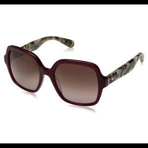 NEW Kate Spade Katelee Burgundy Havana Sunglasses